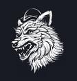 old school wolf vector image