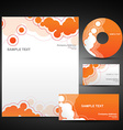 orange template set vector image vector image