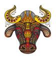 ornamental bull vector image vector image