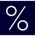 Percent or interest icon of set white outlines vector image vector image
