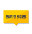ready for business price tag vector image vector image