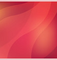 red abstract background with shiny wavy pattern vector image