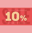 sale banner template ten percent discount vector image vector image