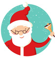 Santa Claus portrait with christmas bell vector image vector image