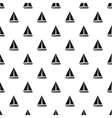 Sea yacht pattern simple style vector image vector image