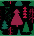 seamless pattern with forest trees vector image vector image