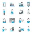 Set icons salesman flat vector image vector image