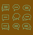 set of linear icons speech bubbles vector image vector image