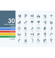 Set of rock climbing icons vector image vector image