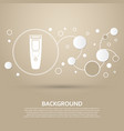 shaver hairclipper icon on a brown background vector image vector image