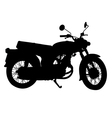 silhouette of vintage motorcycle vector image vector image