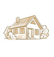 sketch of a private house vector image vector image