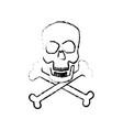 skull crossed bones danger poison symbol medical vector image vector image
