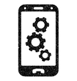Smartphone Settings Grainy Texture Icon vector image