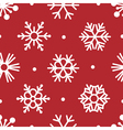 snowflakes simple seamless vector image vector image