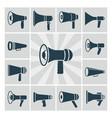 speaker icons set flat megaphone vector image