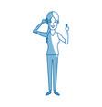 standing woman cartoon person gesturing image vector image vector image