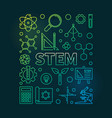 stem colorful thin line on vector image