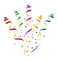 surprise party streamers with confetti vector image vector image