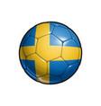 swedish flag football - soccer ball vector image vector image