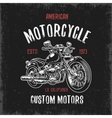 t-shirt print with hand drawn motorcycle vector image vector image