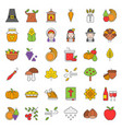 thanksgiving and autumn related icon big set vector image vector image