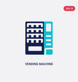 two color vending machine icon from hotel and vector image vector image