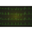 Typical human electrocardiogram bright green vector image