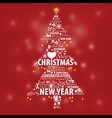 Typographic design in pine for Christmas and New vector image vector image
