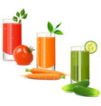 vegetable juice icons vector image