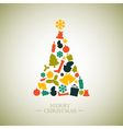 Vintage christmas tree vector | Price: 1 Credit (USD $1)