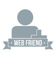 web friends logo simple gray style vector image vector image