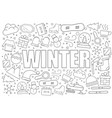 winter background from line icon vector image