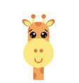 with giraffee vector image