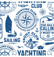 yacht club seamless pattern or background vector image vector image