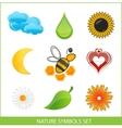 Nature eco symbols vector image