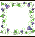 border swirl flower vector image