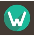Letter W Logo Flat Icon Style vector image