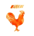 2017 - chinese year rooster rooster vector image