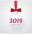 2019 christmas and new year background vector image vector image