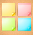 4 Colorful Stick Notes vector image