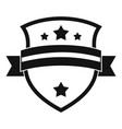 badge knight icon simple black style vector image vector image
