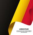 Belgium Waving Flag Background vector image vector image