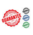 best quality guarantee rubber label seal stamp set vector image