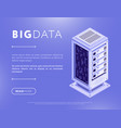 big database isometric design vector image vector image