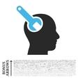 Brain Tool Flat Icon With Bonus vector image