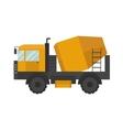 Building under construction cement mixer machine vector image vector image