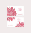 Business cards templates watercolor flowers vector image vector image