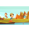 Camping Children vector image vector image