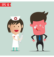 Cartoon nurse using syringe - - EPS10 vector image vector image